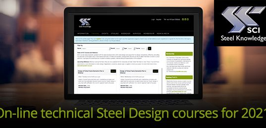 On-line technical Steel Design courses for 2021