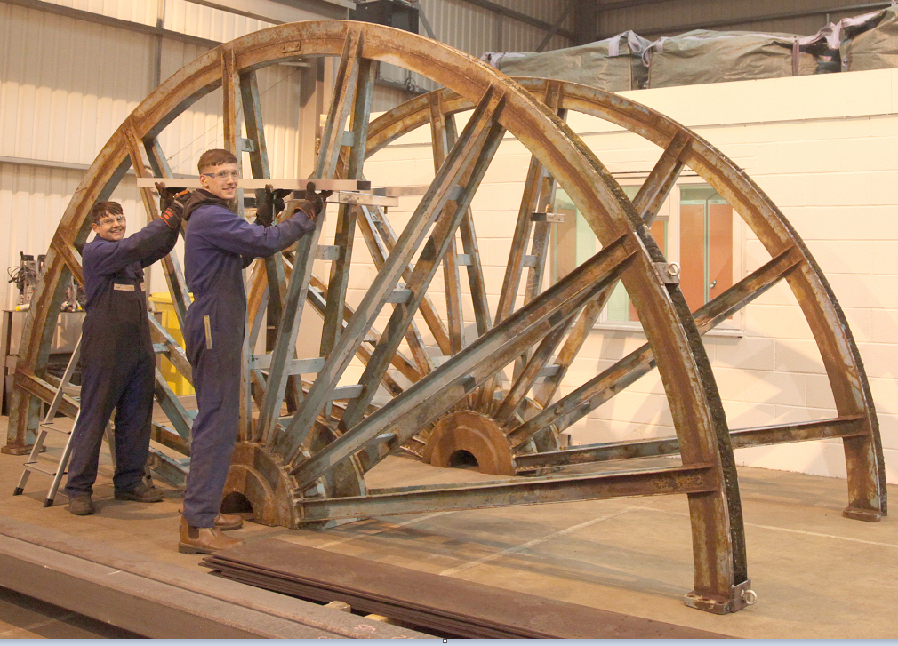 Restoration of a colliery wheel